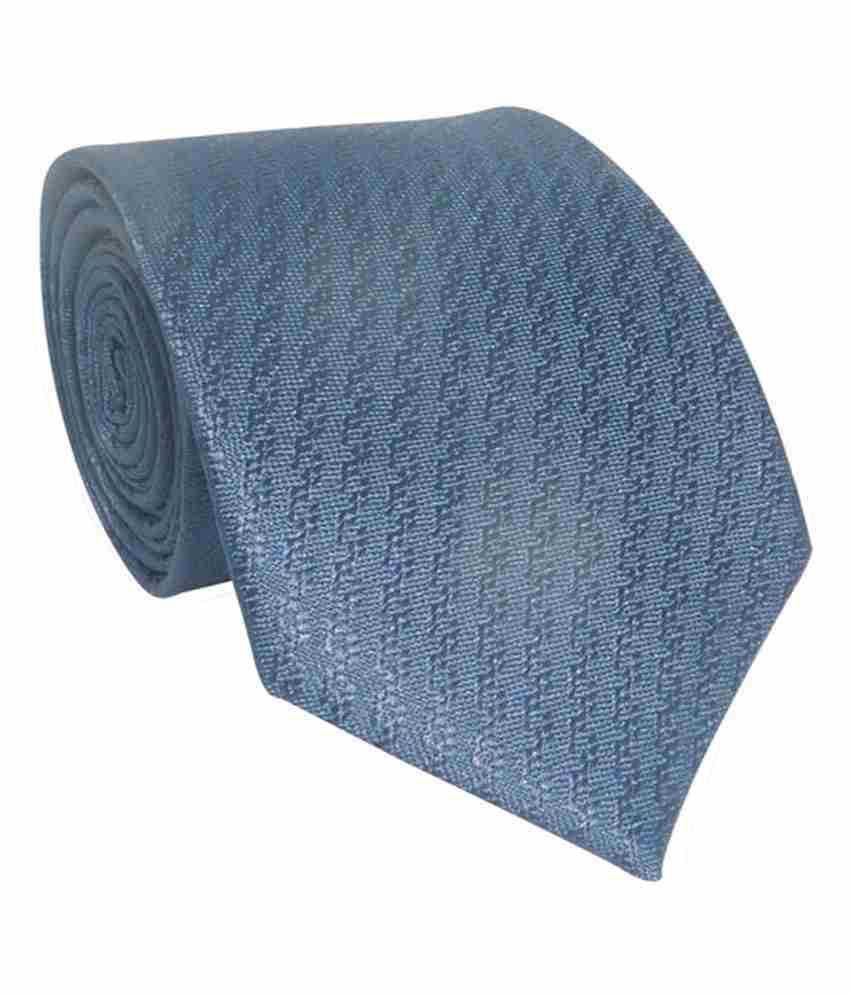 Vermello Blue Abstract Formal Regular Tie