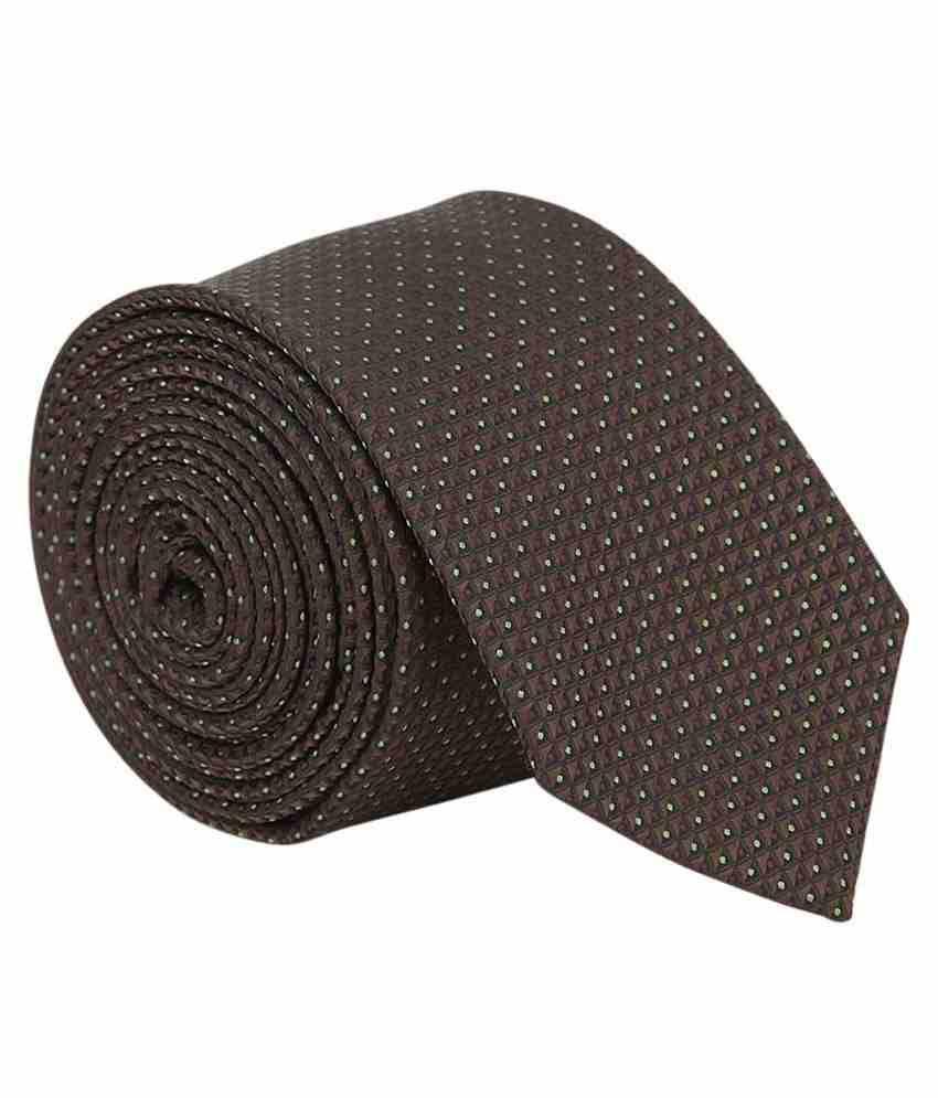 Vermello Brown Abstract Formal Regular Tie