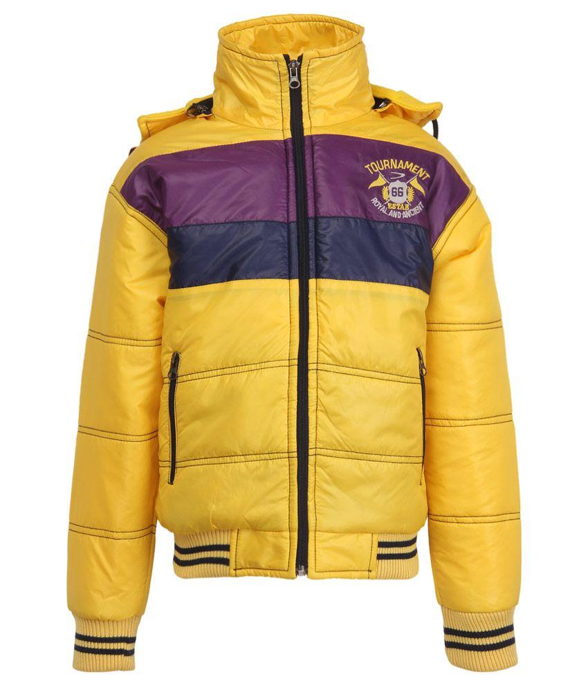 Duke Yellow Polyester Hooded Jacket