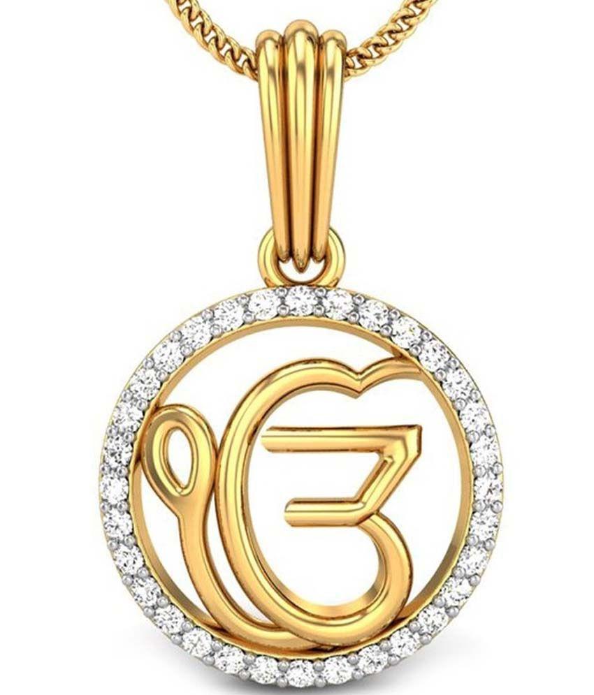 Kataria jewellers ek onkar satnam waheguru sikh pendant in bis kataria jewellers ek onkar satnam waheguru sikh pendant in bis hallmarked gold aloadofball Images