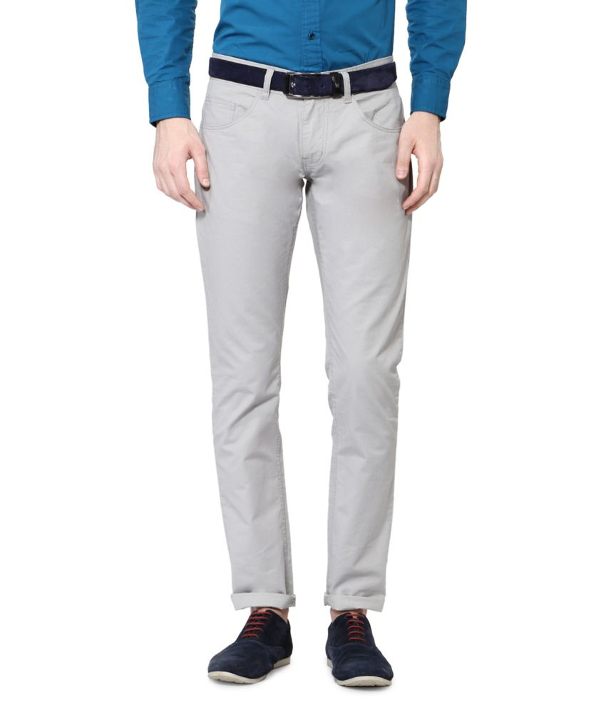 People White Blended Cotton Chinos
