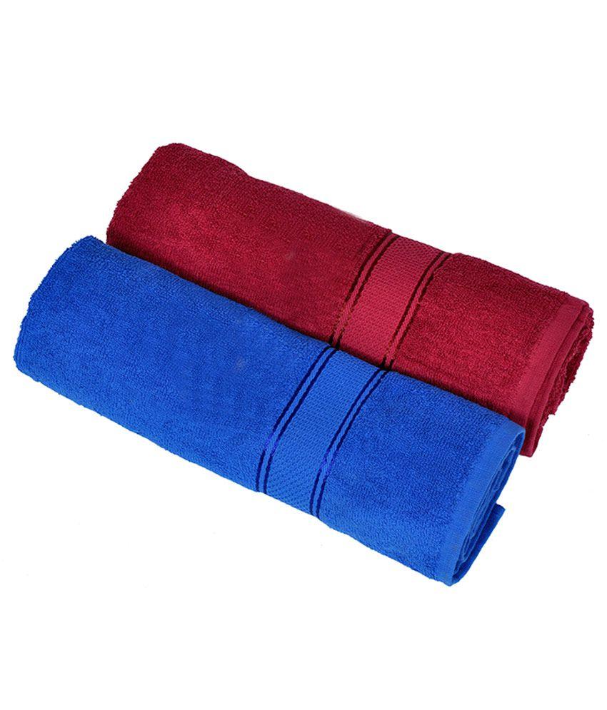 Sakshi Single Cotton Bath Towel Blue Best Price In India