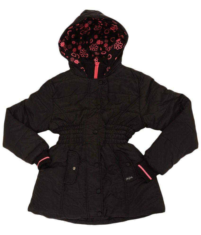 Sportking Black Full Sleeve Hooded Jacket