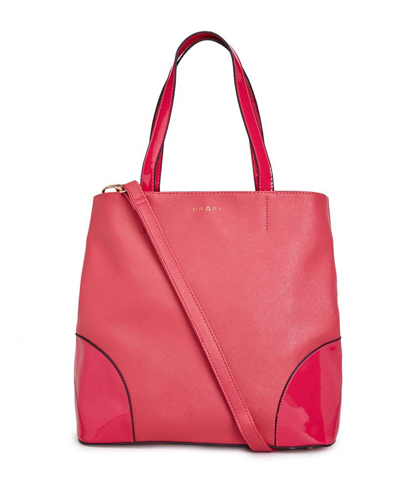 Draft Pink PU Handbag