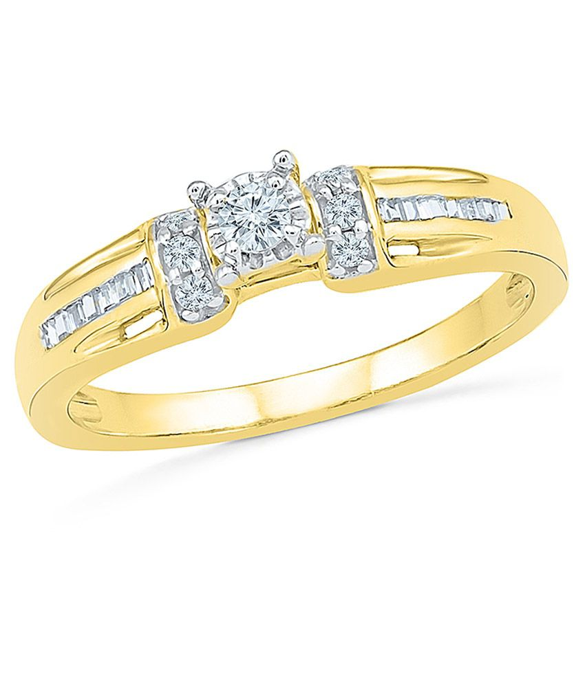 Radiant Bay 14kt Gold Diamond Ring