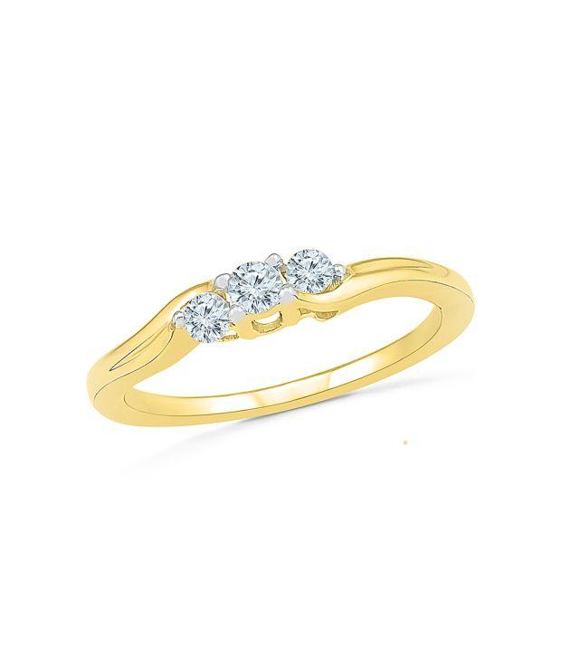 Radiant Bay Yellow Gold 14Kt Diamond Ring