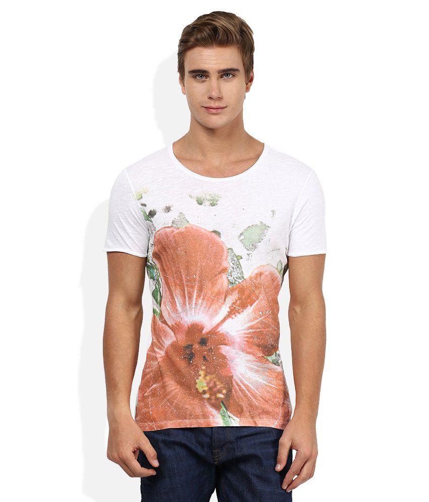 Sisley White Printed T-Shirt