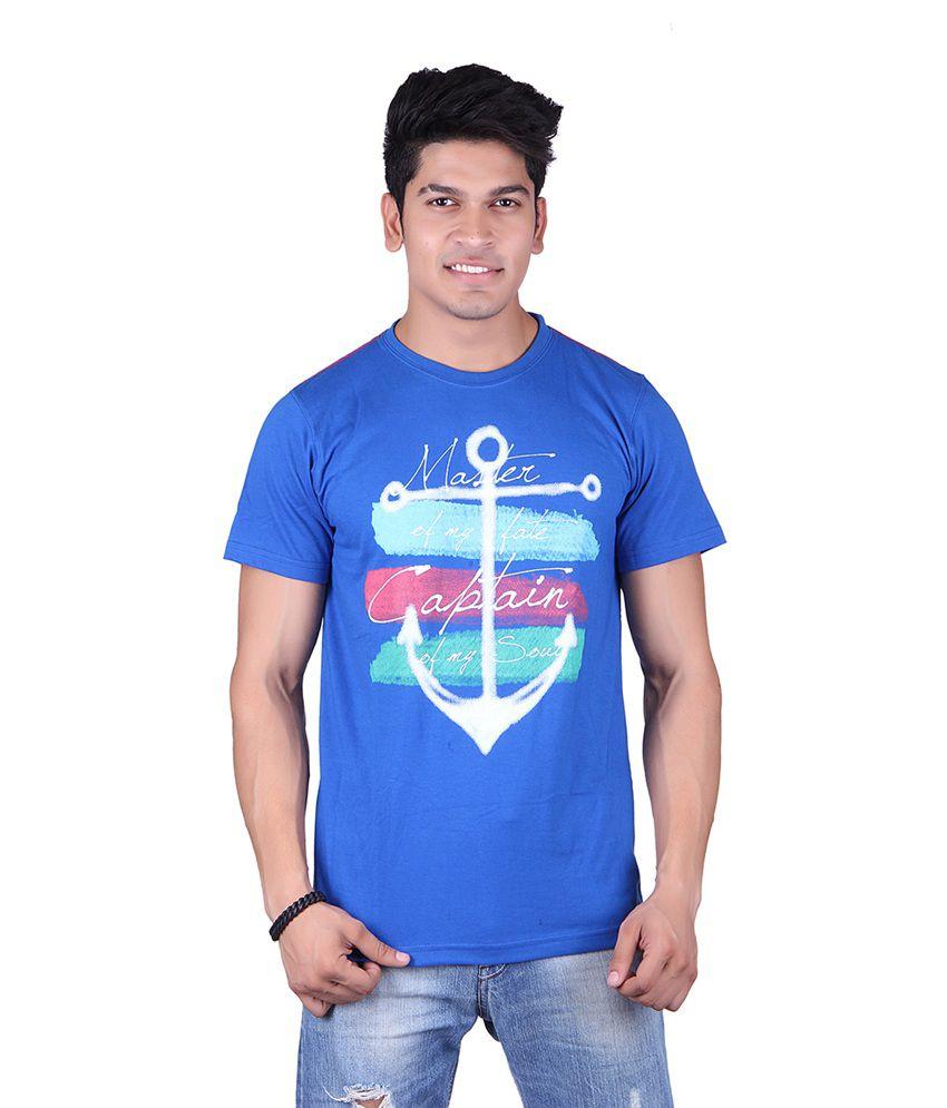 Jura Polo Blue Cotton T-Shirt