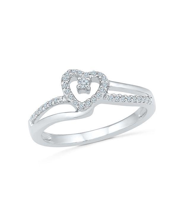 Radiant Bay Bridal 14Kt White Gold Ring