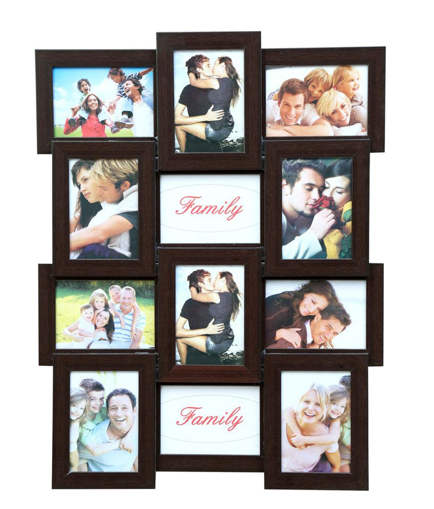 Truce Brown 12-In-1 Photo Frame - Collage Of 12 Frame-Image 5X7: Buy ...