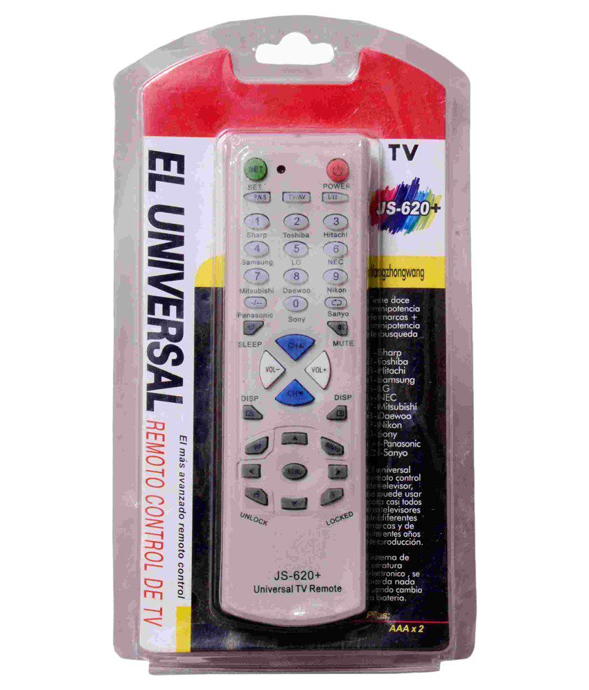 Home Union Home Union Off White Universal Tv Remote Js 620+ Operate On Multiple Tv Brand