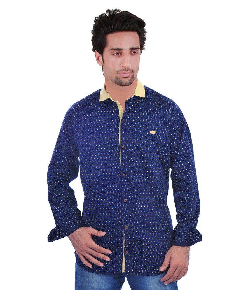 Hack navy blue casual shirt buy hack navy blue casual for Navy blue shirt online