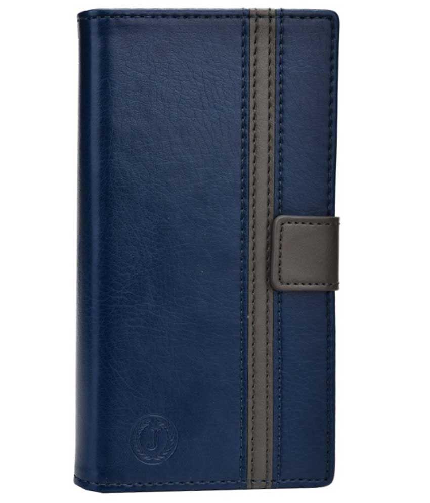 Jo Jo Flip Cover For Micromax Canvas Lite - Blue