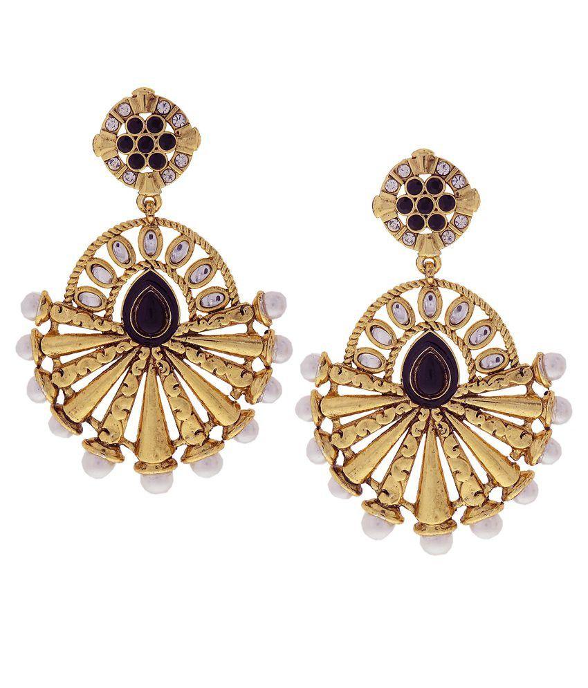 DG Jewels Golden Hanging Earrings