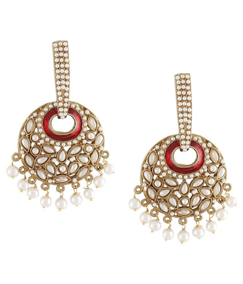 DG Jewels Maroon Pearl Designer Chandeliers