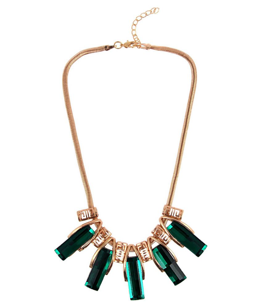 Jewelizer Green Alloy Necklace
