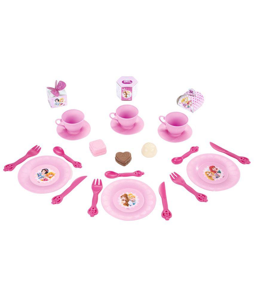 Smoby Pink & Yellow Plastic Disney Princess Picnic Basket Toy - Buy ...