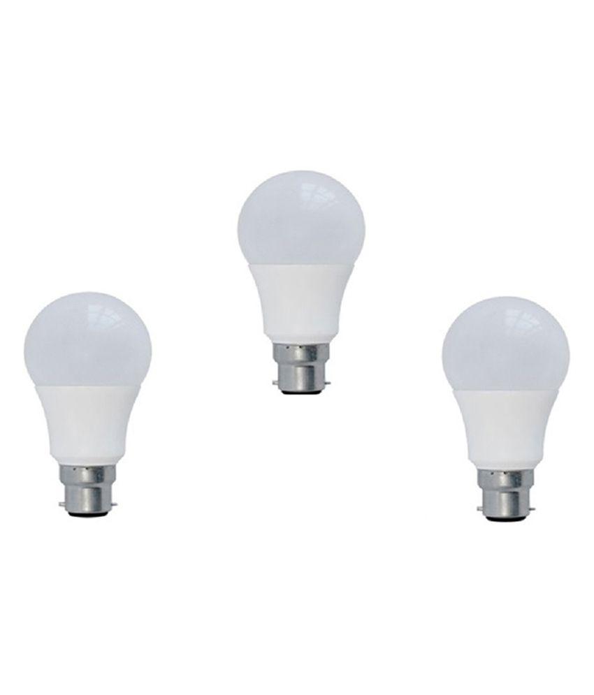 Syska 15W Pack of 3 LED Bulbs