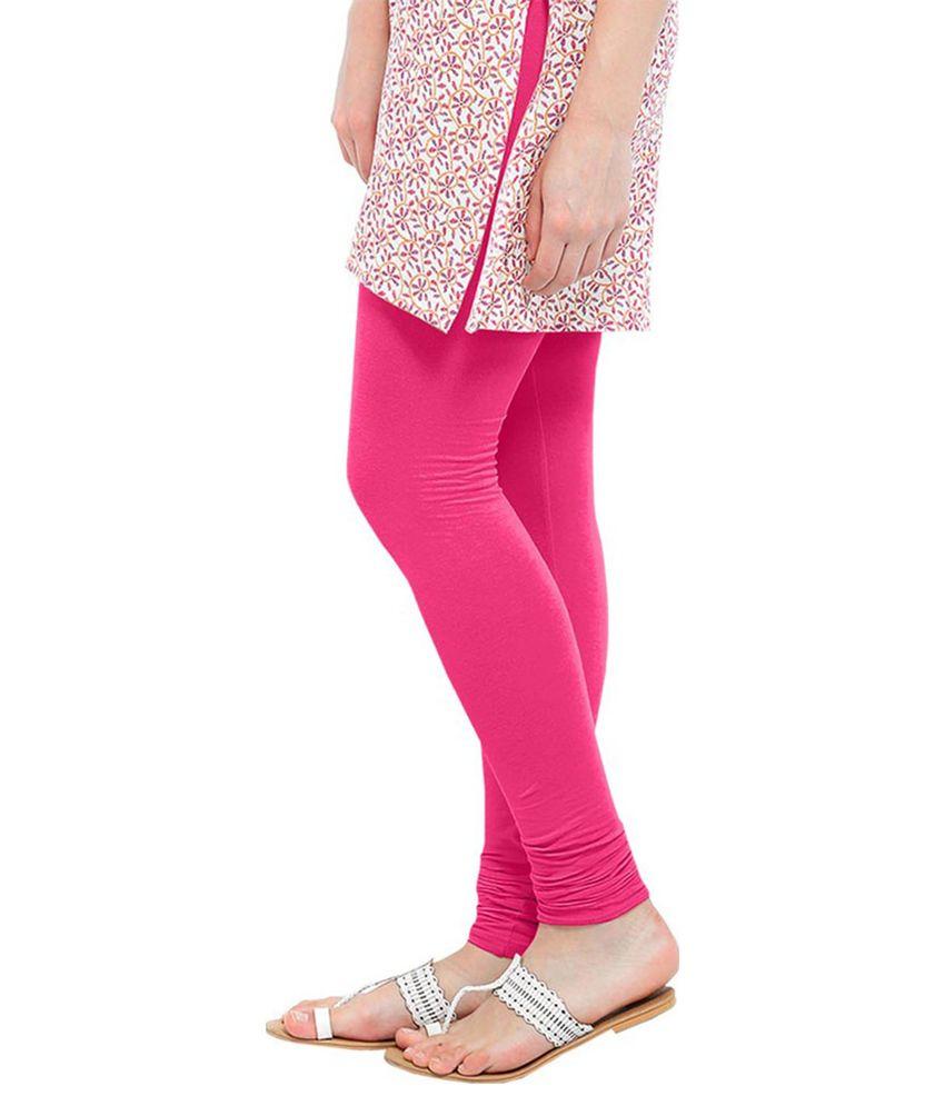 0b1c83703edc7 As Creation Pink Satin Leggings Price in India - Buy As Creation ...