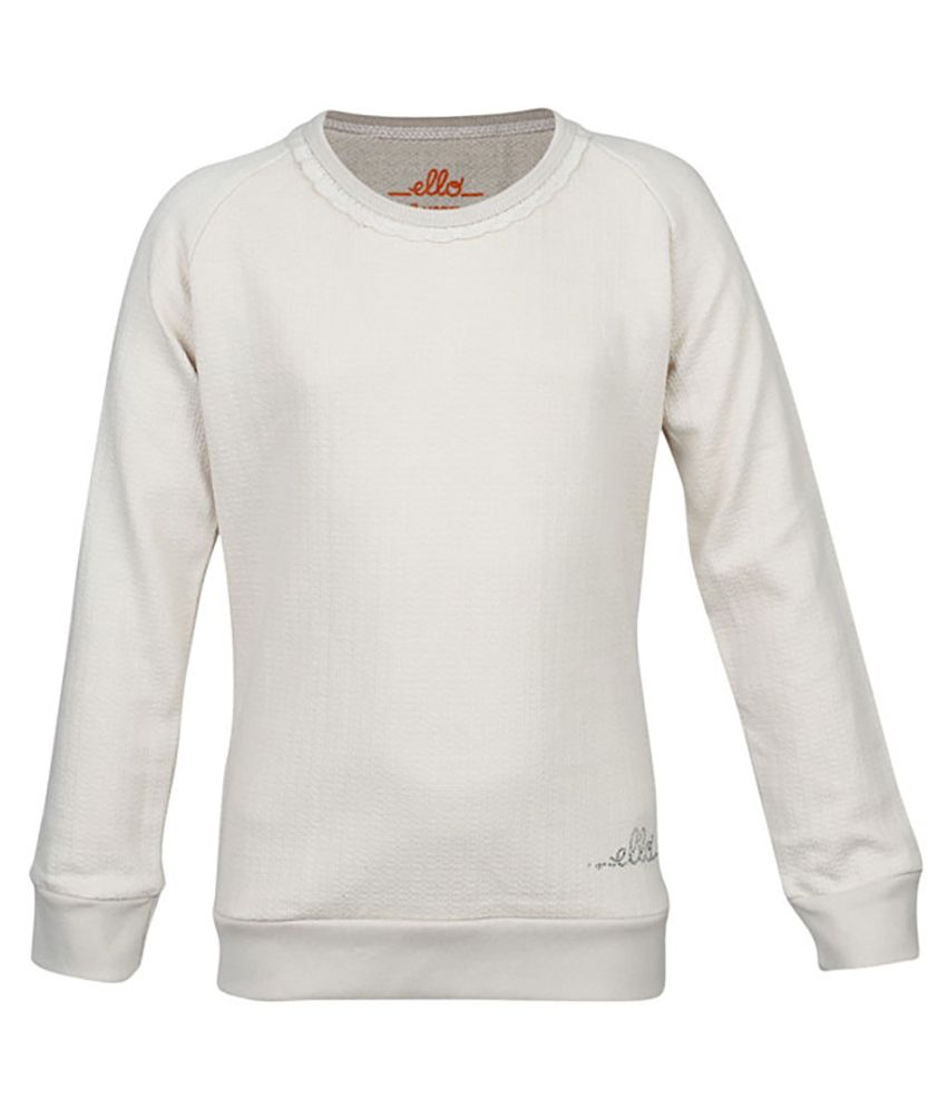 ELLO GhostWhite Without Hood Sweatshirt
