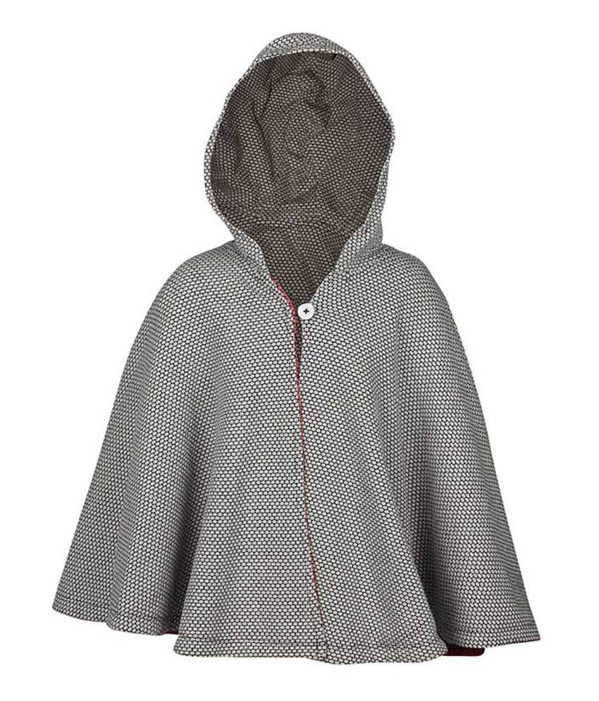 ELLO Gray Full Sleeves With Hood Reversible Jacket