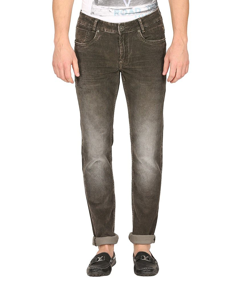 Mufti Brown Slim Jeans