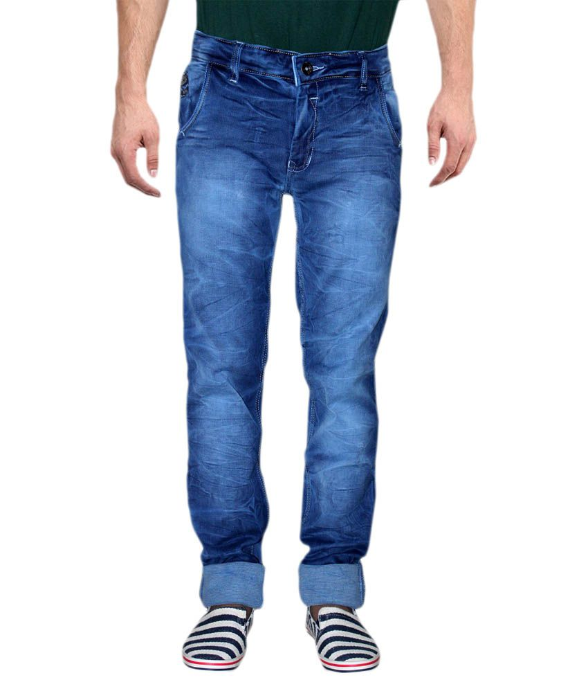 Nsum Blue Regular Fit Jeans