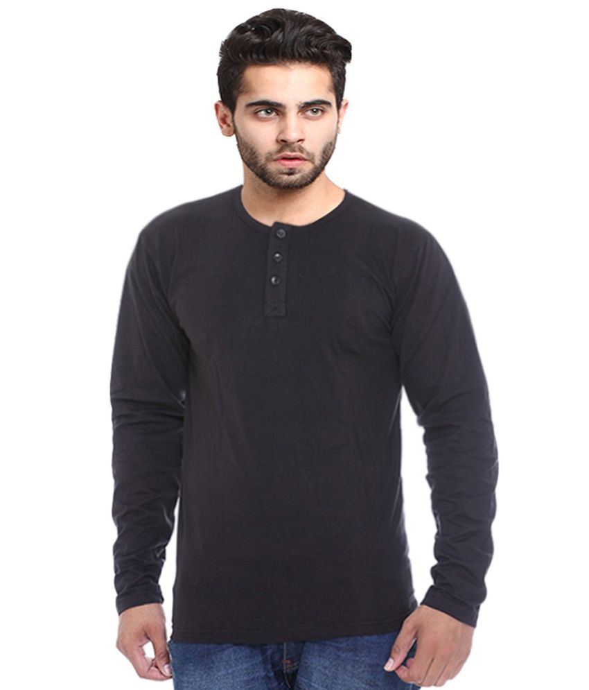 X-cross Black Cotton T-Shirt