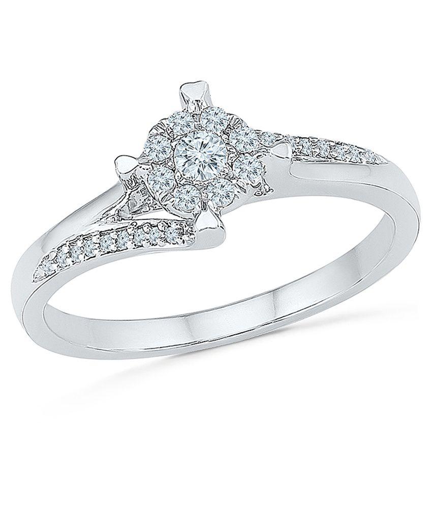 Radiant Bay 14 Carat White Gold Diamond Ring