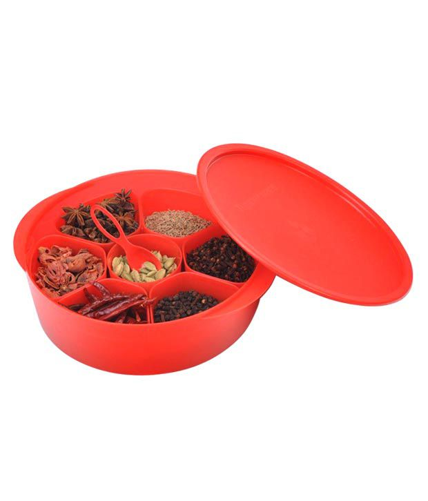 Tupperware Red Multi Masala Box