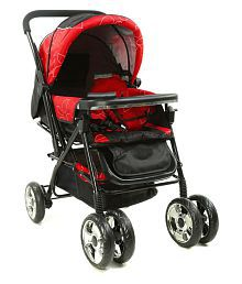 Yours Shop Red and Black Metal Stroller