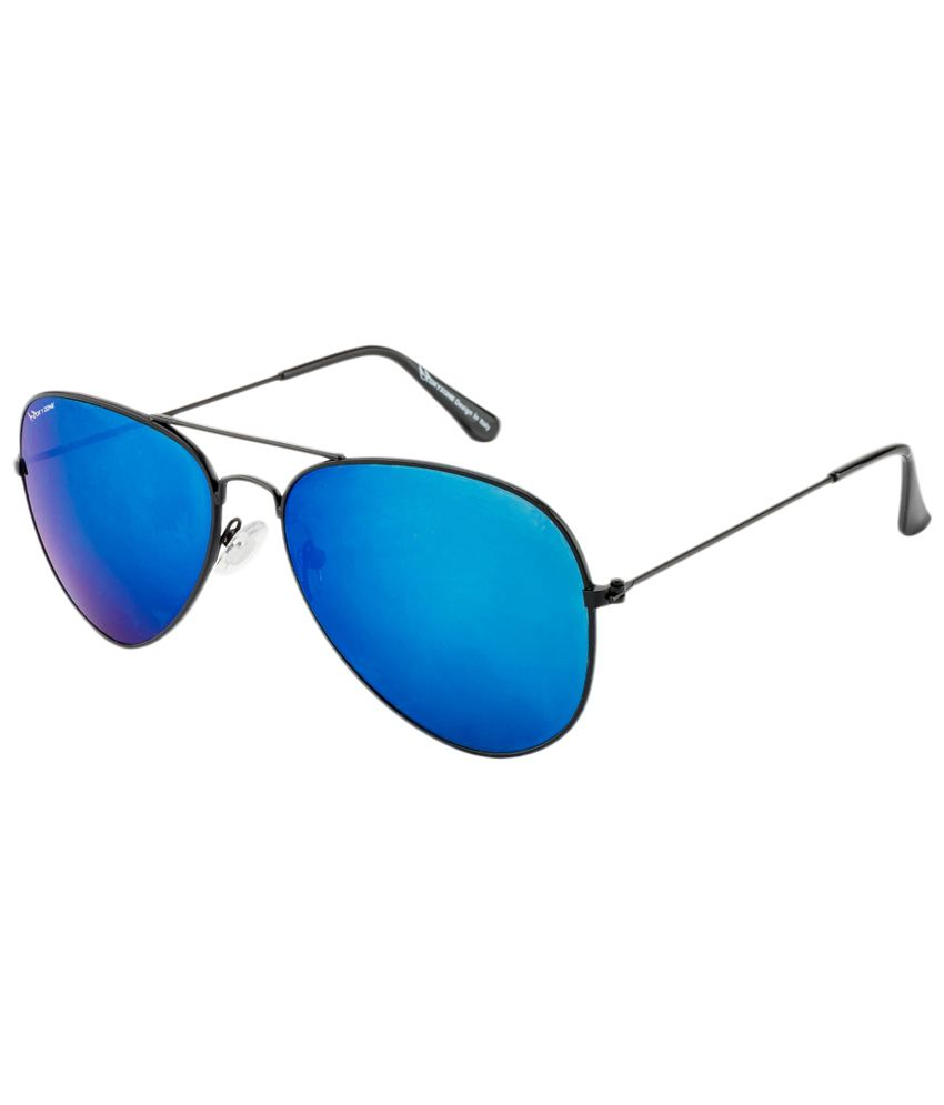 Oxyzone Blue & Black Unisex Aviator Sunglasses