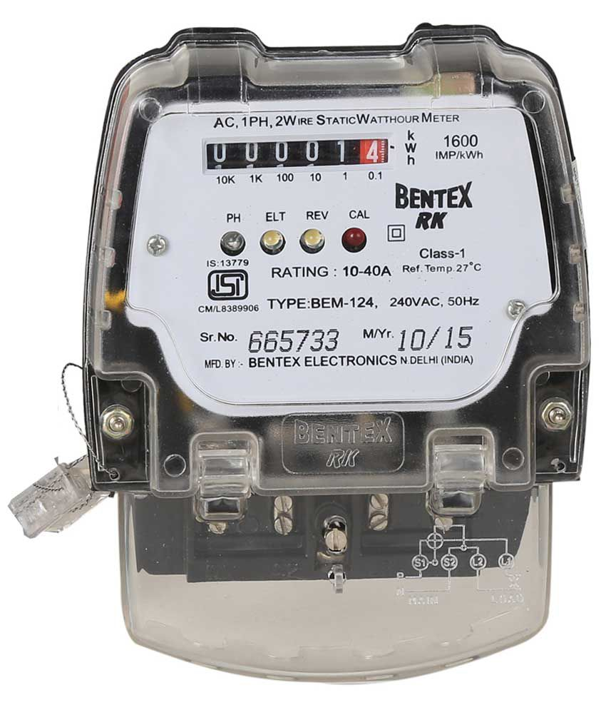 Electronic Electric Meter : Buy bentex rk single phase energy meter submeter