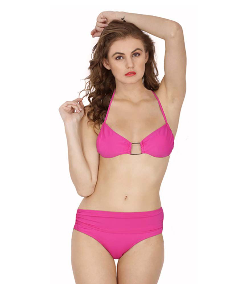d7db4d53aa Buy D Naked 3 Piece Pink Swim Wear Lingerie Bikini Set Online at Best  Prices in India - Snapdeal