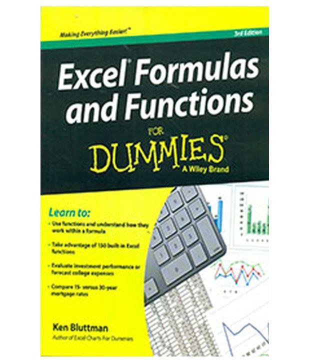 excel formulas for dummies pdf