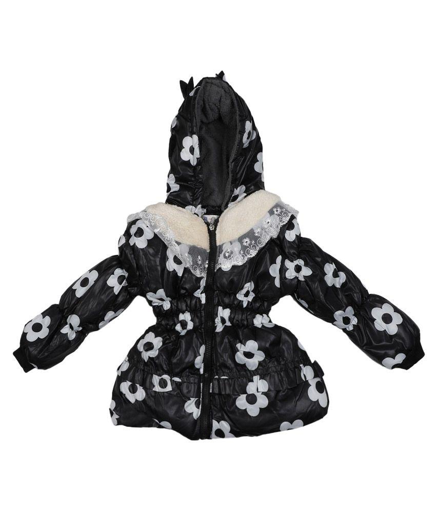 Addyvero Black Faux Satin Full Sleeves Jacket with Hood