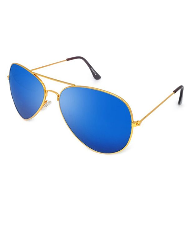 61feed9a0d33 Macv Eyewear Blue Aviator Sunglasses - Buy Macv Eyewear Blue Aviator Sunglasses  Online at Low Price - Snapdeal