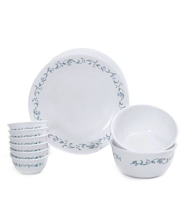 corelle 14 pcs dinner set livingware country cottage by rh snapdeal com