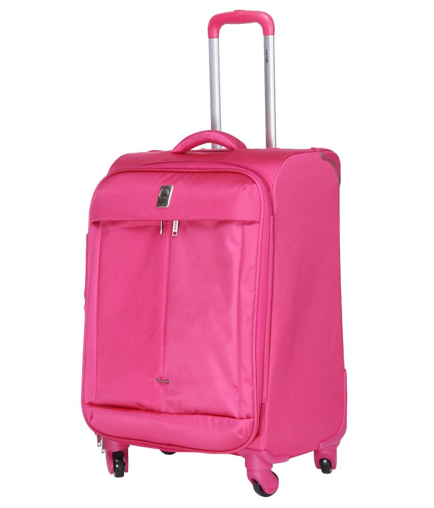Delsey Flight Pink 4 Wheel Soft Luggage-Size26 Inch - Buy Delsey ...