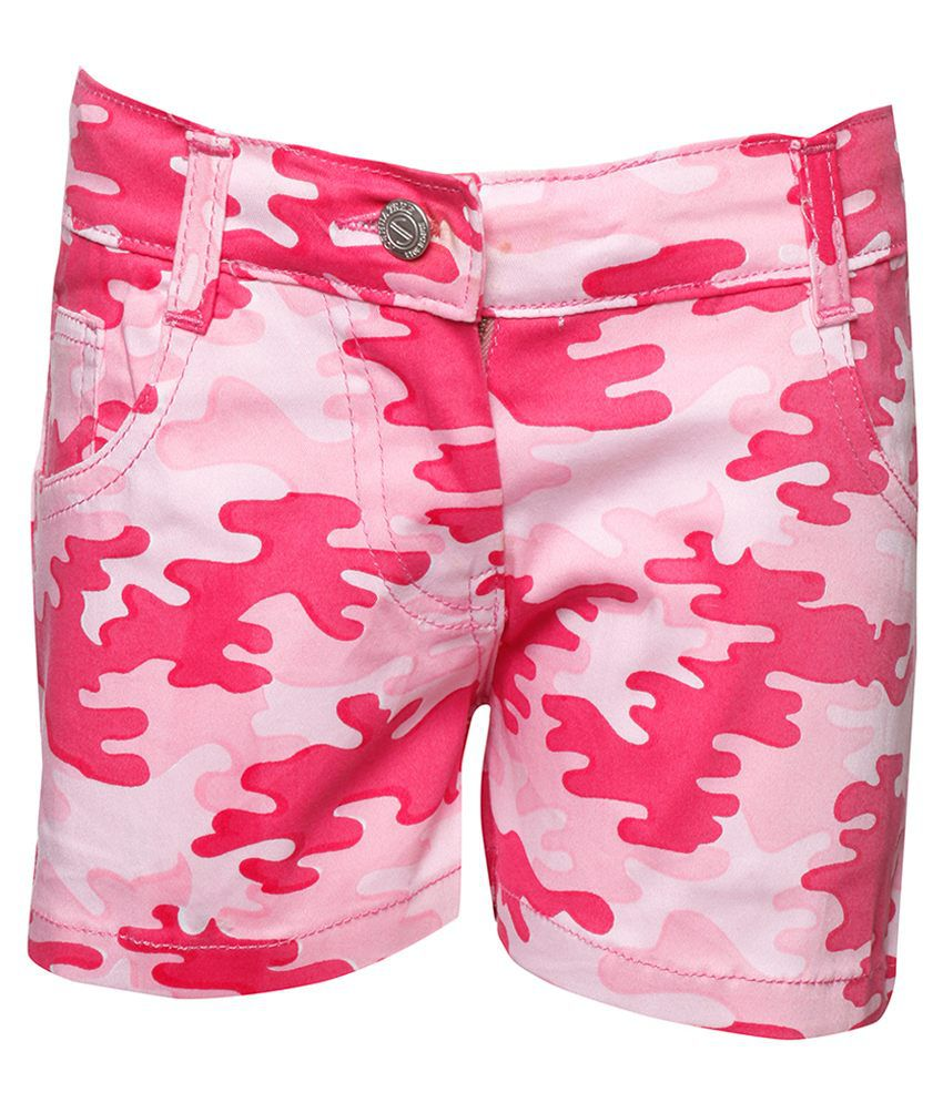 Joshua Tree Pink Cotton Shorts