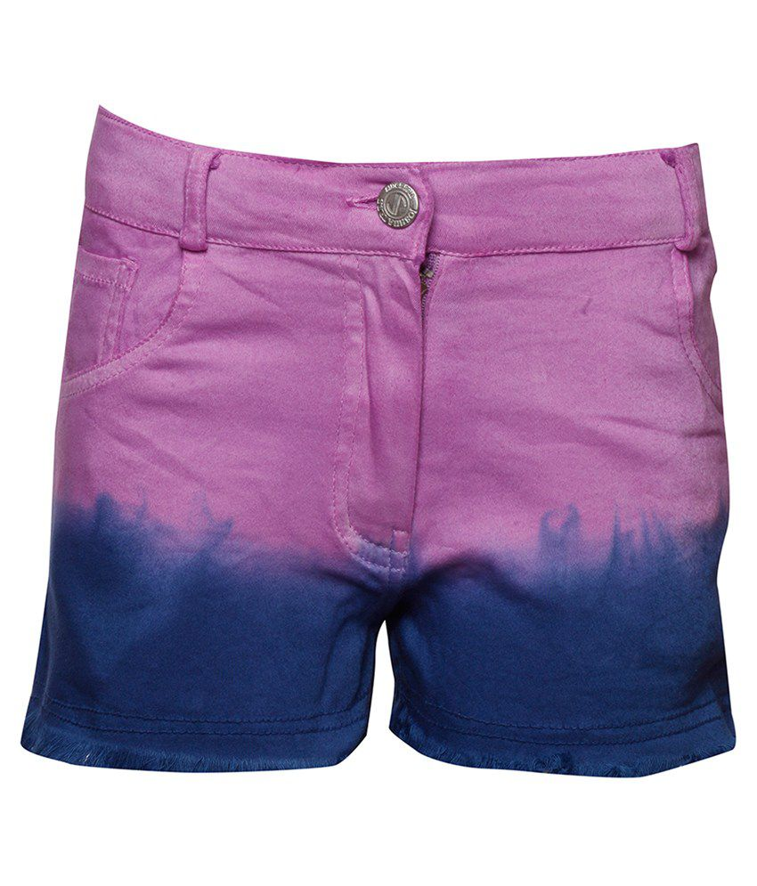 Joshua Tree Purple Cotton Shorts