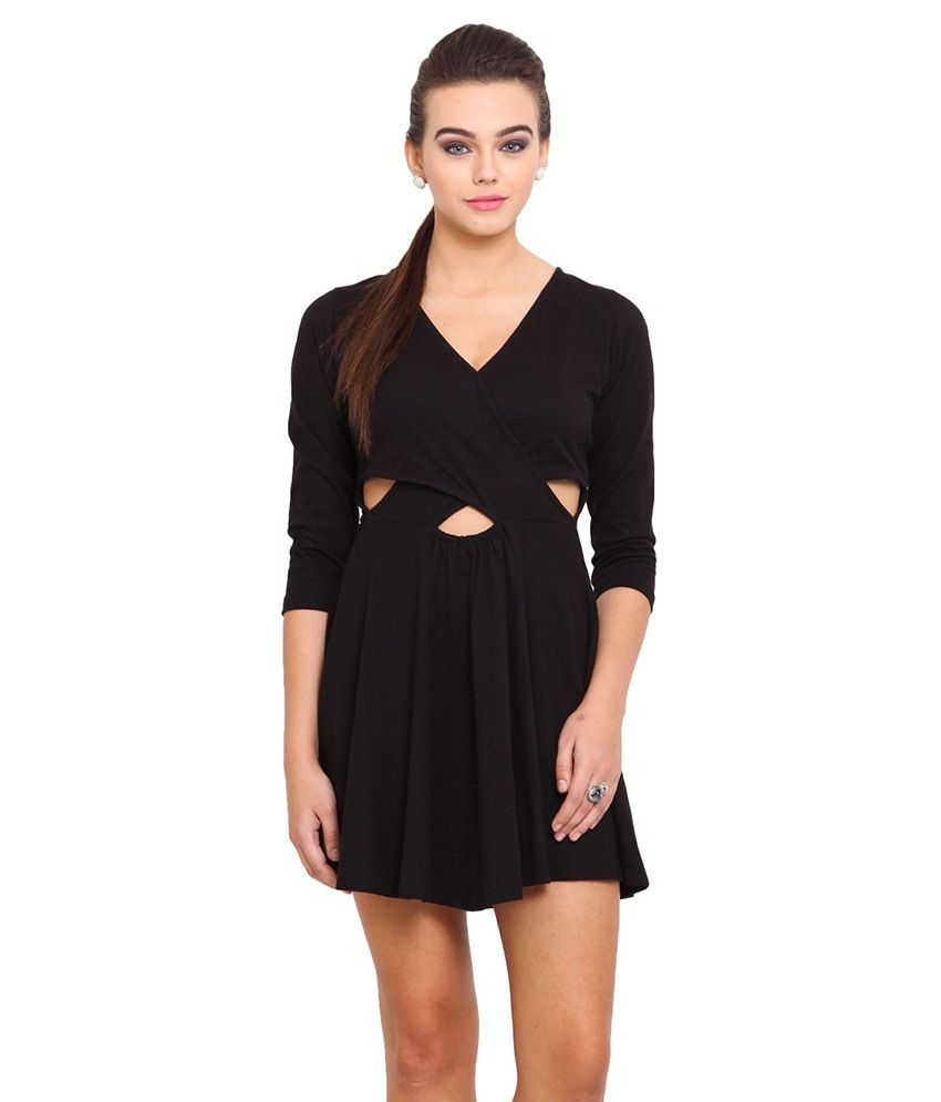 Anaphora Black Cotton Dresses