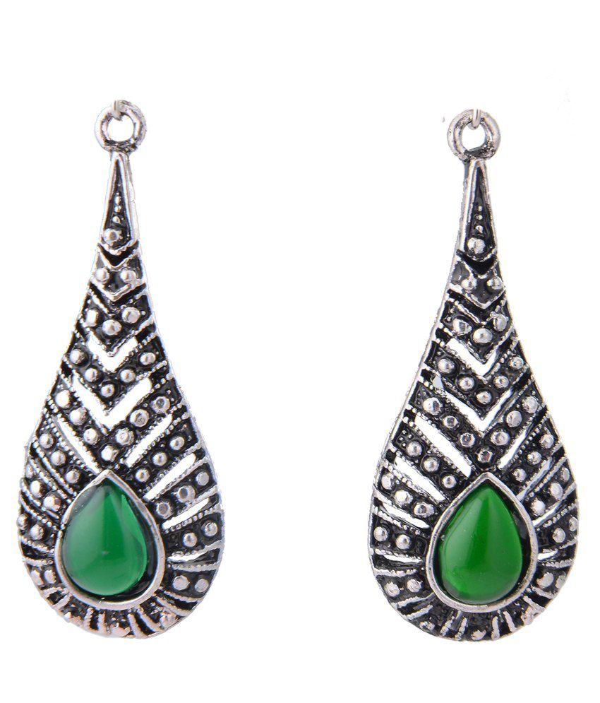 Arihant Jewels Black Alloy Drop Earrings