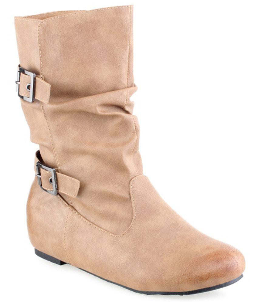 Shuz Touch Modish Tan Boots