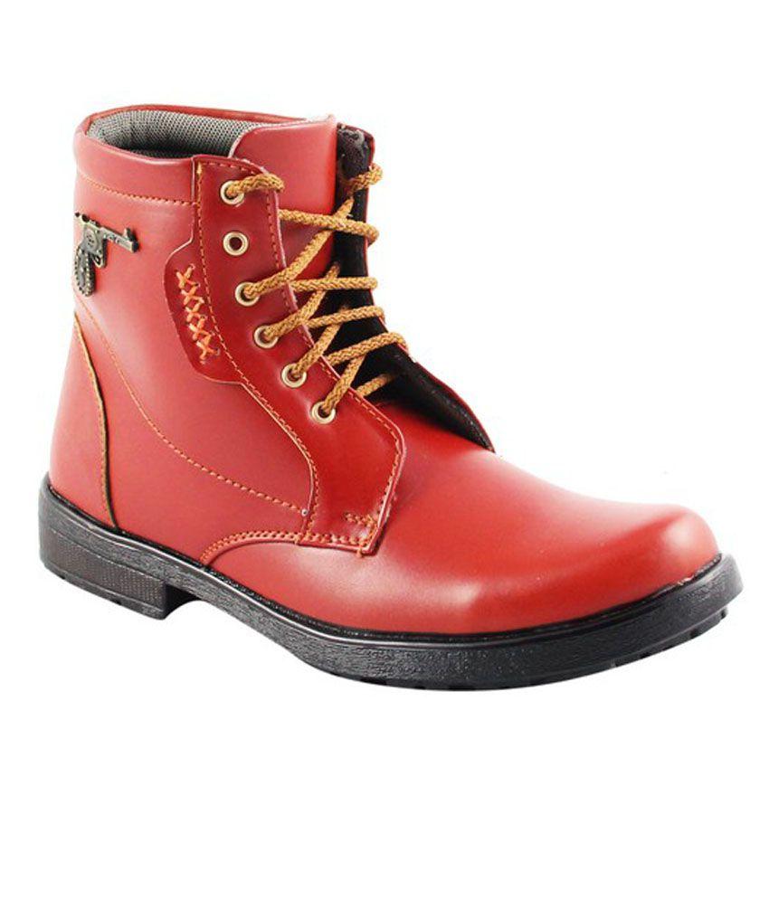 Unique Footwears Maroon Boots