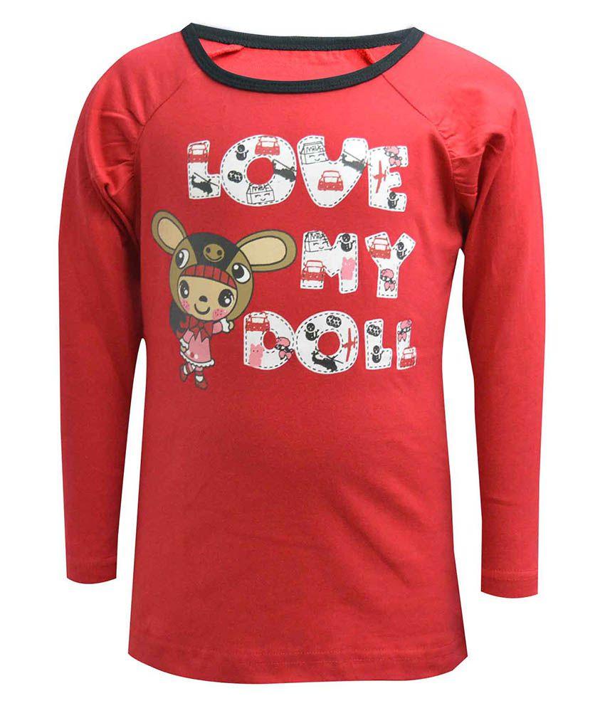 Blueriver Red T Shirt For Girls Buy Blueriver Red T