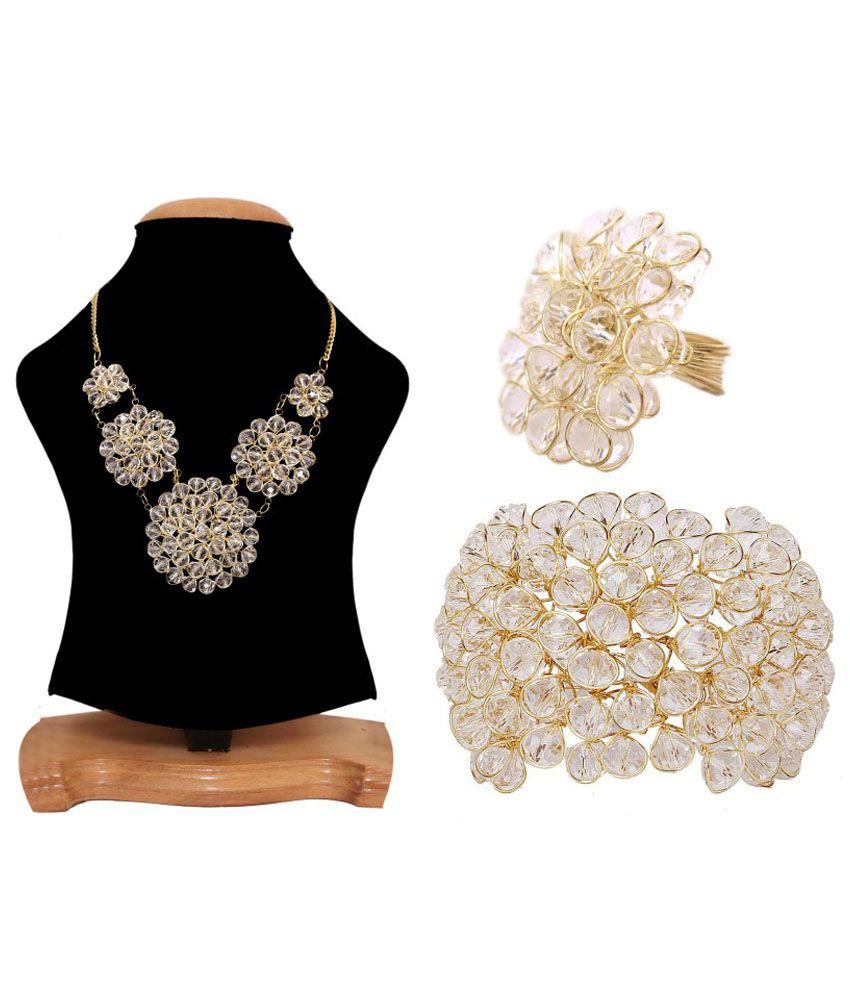 Renaissance Traders White Alloy Jewellery Set