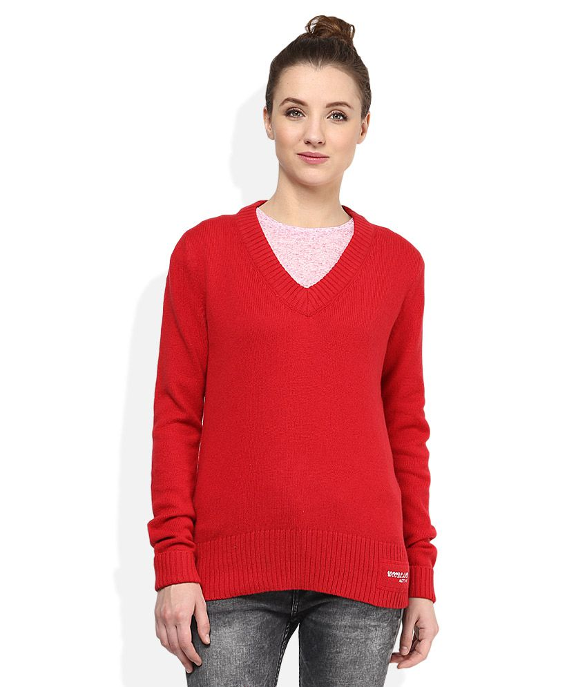 Woodland Red Pullover