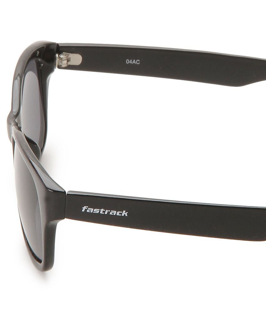 Fastrack Black Wayfarer Sunglasses  fastrack pc001bk19 gray wayfarer sunglasses fastrack