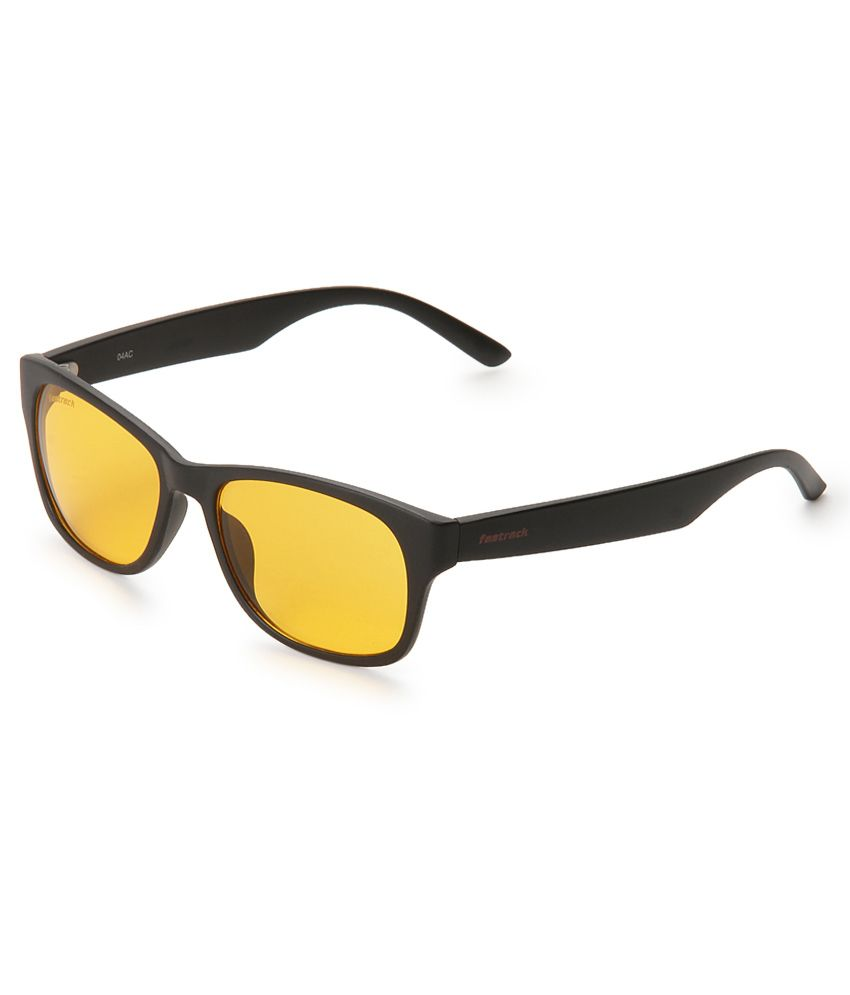 Fastrack Latest Sunglasses  fastrack pc001or18 yellow wayfarer sunglasses fastrack